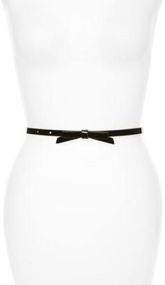 Women's Halogen Patent Bow Belt $29 thestylecure.com