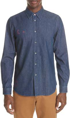 Paul Smith Denim Shirt with Embroidery