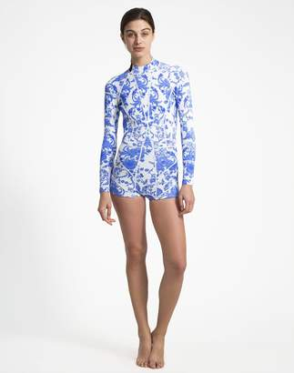 Cynthia Rowley Blue China Print Wetsuit