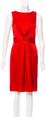 Tahari Arthur S. Levine Sleeveless Silk Dress