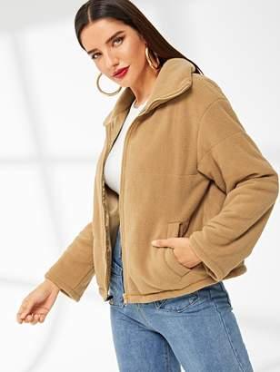Shein Zip Up Teddy Jacket