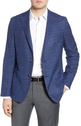 Hickey Freeman Classic Fit Check Wool Blend Sport Coat