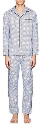 Maison Marcy Men's Golf-Print Cotton Pajama Set - Red