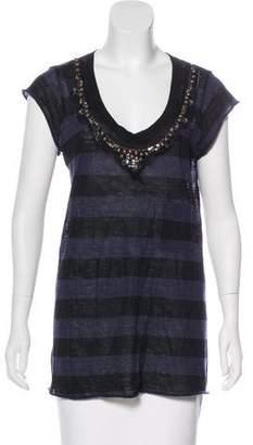 A.L.C. Wool Striped Top