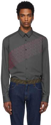 Fendi Grey and Pink FF Shirt