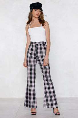 Nasty Gal Check It Flare Pants