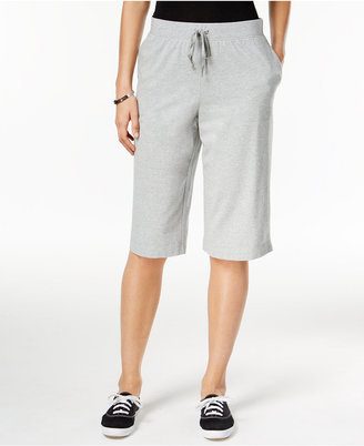 Karen Scott Pull-On Active Bermuda Shorts, Only at Macy's $14.98 thestylecure.com