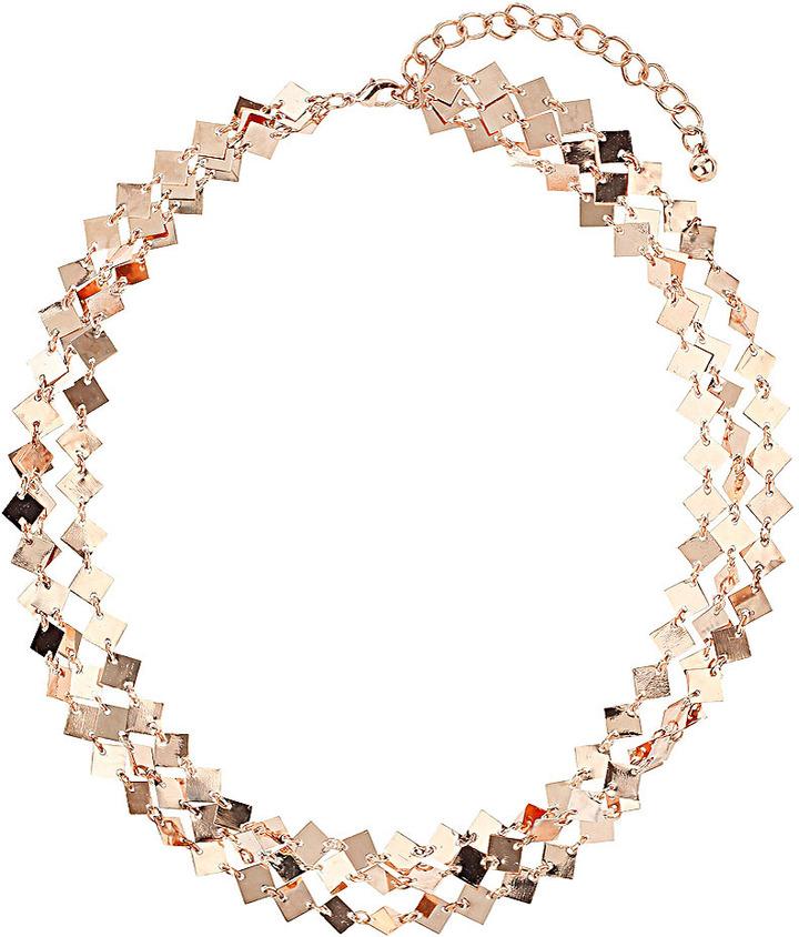 Topshop Metal Diamond Multirow Collar