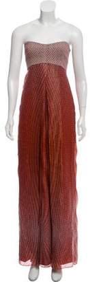 Diane von Furstenberg Adriana Strapless Chiffon Maxi Dress w/ Tags