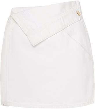 Jacquemus Fitted Denim Skirt
