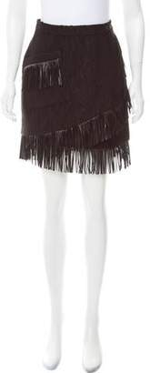 Amen Fringe-Trimmed Mini Skirt