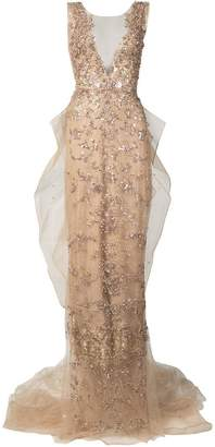 Marchesa Illusion column gown