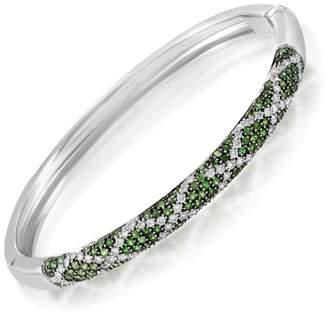 Fratelli Lani 18K White Gold Diamond & Tsavorite Bangle Bracelet