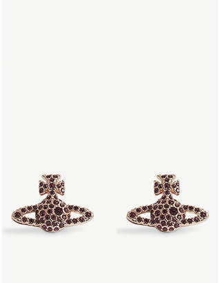 Vivienne Westwood Grace Bas Relief pavé orb stud earrings