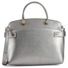 Furla Agata Metallic Leather Tote