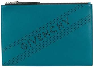 Givenchy perforated logo clutch