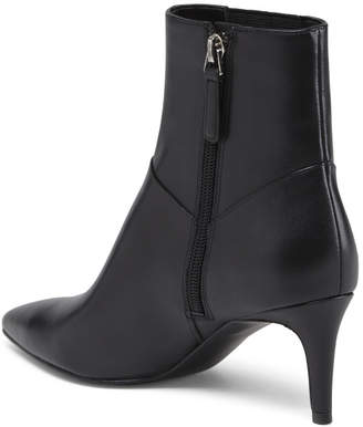 Nine West Leather Pointy Toe Booties