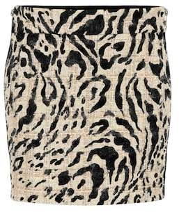 Haider Ackermann Tweed and suede miniskirt