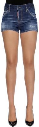 DSQUARED2 Cool Girl Cotton Denim Shorts