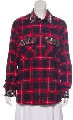 Gucci Studded Button-Up Top