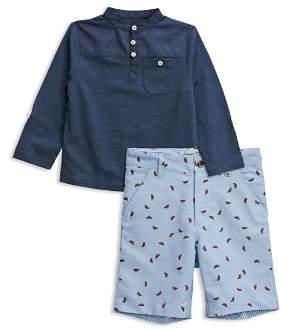 Sovereign Code Boys' Henley Tee & Watermelon-Print Shorts Set - Baby