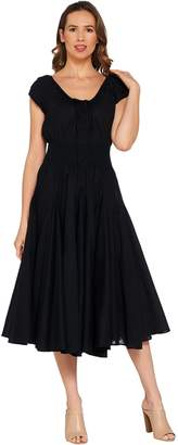 Laurie Felt Retro Dress with Cap Sleeves