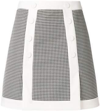 Sara Battaglia gingham A-line skirt