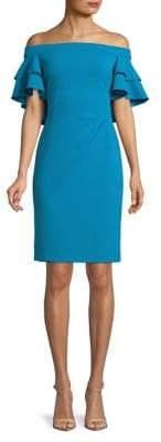 Lauren Ralph Lauren Ruffle Off-The-Shoulder Dress