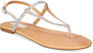 INC International Concepts I.n.c. Women's Macawi Embellished Flat Sandals, Created for Macy's Women's Shoes