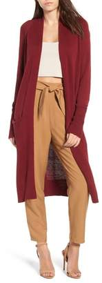 Leith Side Split Midi Cardigan