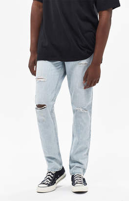 Pacsun Slim Fit Ripped Bleached Indigo Jeans