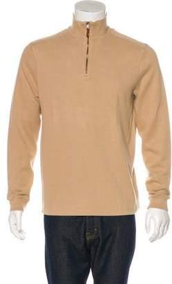 Ralph Lauren Black Label Woven Zip-Front Sweater