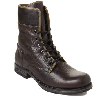 Pajar Canada Grey Lace-Up Leather Waterproof Boots