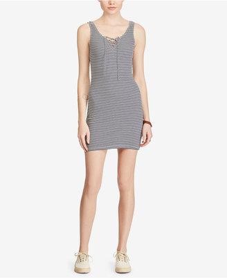 Denim & Supply Ralph Lauren Striped Lace-Up Dress $89.50 thestylecure.com