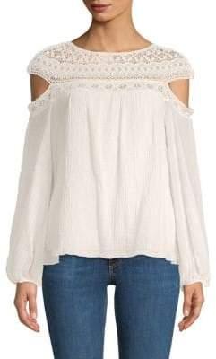 Bailey 44 Cotton Cold-Shoulder Top