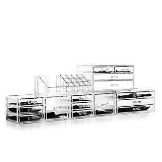 Felicite Home Acrylic Jewelry and Cosmetic Storage Makeup Organizer Set