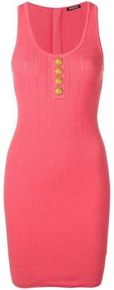 Balmain button detail knit dress