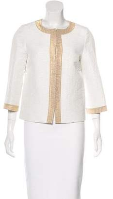 Andrew Gn Metallic Collarless Jacket