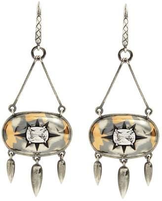 Bottega Veneta Stellular cubic-zirconia drop-earrings