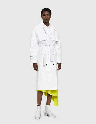 MSGM Belted Tyvek Trench Coat