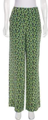 Etro Silk High-Rise Pants
