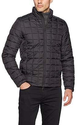 Scotch & Soda Men's Classic Padded Jacket in Nylon Quality with Square Quilting