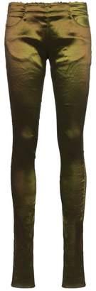 Poiret Hi-sheen satin skinny trousers