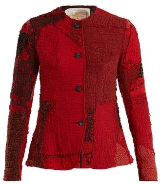 By Walid - Yoni 19th Century Panelled Silk Jacket - Womens - Red Multi
