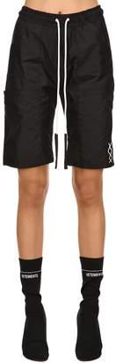 Agora Dark Nylon Sweat Shorts
