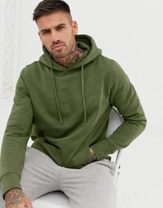 Pull&Bear hoodie in khaki
