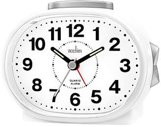 Acctim Lila Sweep Alarm Clock, White