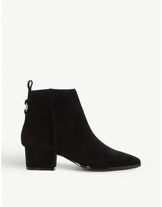 Steve Madden Clover ring-detail suede ankle boots