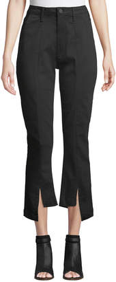 Parker Smith Novak Straight-Leg Asymmetric-Hem Trousers