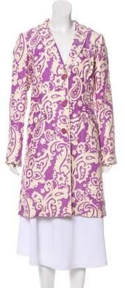 Etro Linen Paisley Coat